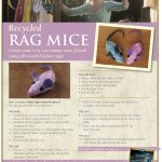 Cinderella Mice Craft Made with Recycled Rags