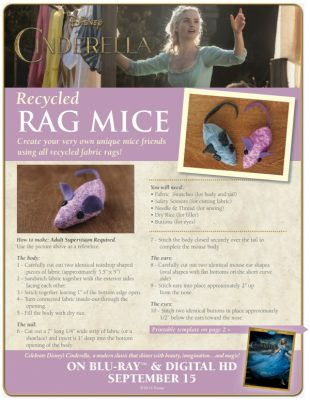 Disney Cinderella Recycled Rag Mice Craft