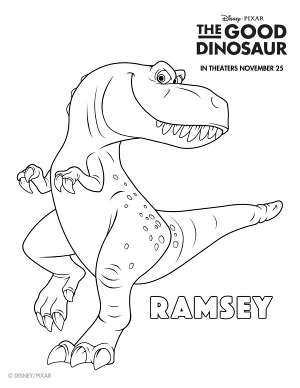 disney the good dinosaur free printable ramsey coloring page mama