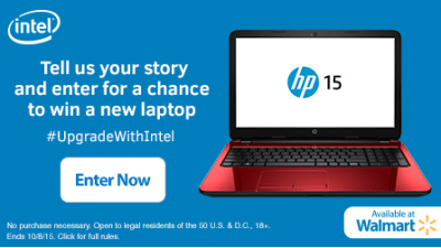 Intel Laptop Giveaway – EXPIRED