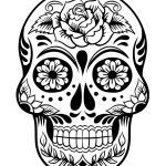 Printable Sugar Skull Day of the Dead Coloring Page