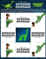 Free Printable Disney Pixar The Good Dinosaur Memory Game