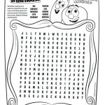 Free Printable VeggieTales in The House Word Search