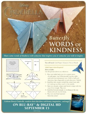 Disney Cinderella Origami Butterfly Craft