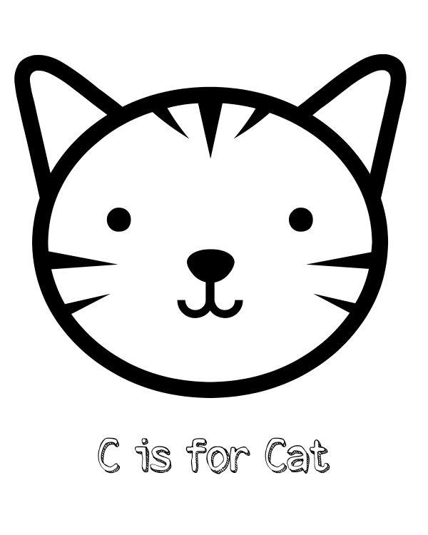 It is a photo of Cat Printable throughout black
