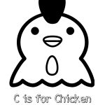 Free Printable C is for Chicken Coloring Page