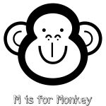 Free Printable M is for Monkey Coloring Page