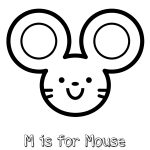 Free Printable M is for Mouse Coloring Page