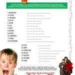 Home Alone Printable Word Scramble Activity Page