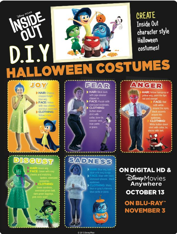 Disney Inside Out DIY Halloween Costumes