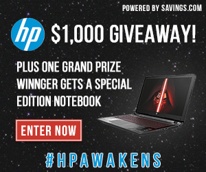 HP Giveaway – Star Wars Notebook – EXPIRED