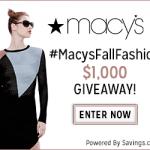 Macy's Fall Fashion – EXPIRED
