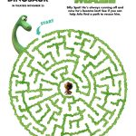 Free Disney Pixar The Good Dinosaur Printable Maze