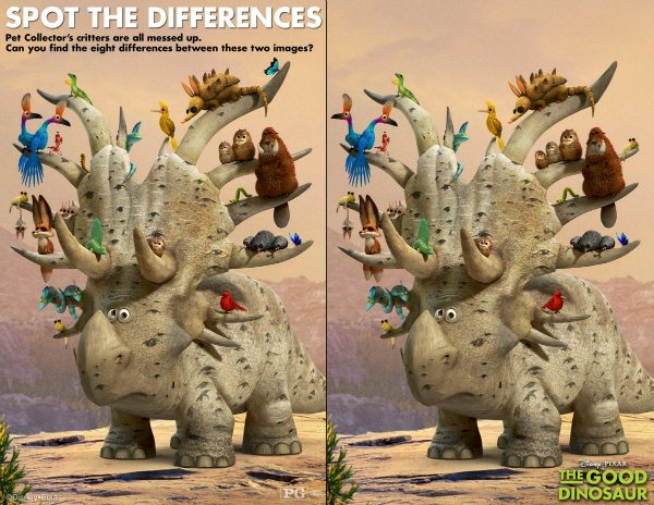 Disney The Good Dinosaur Spot The Differences Activity Page