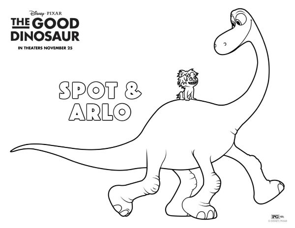 Coloring Books For Adults Dinosaurs : Disney the good dinosaur arlo & spot coloring page mama likes this