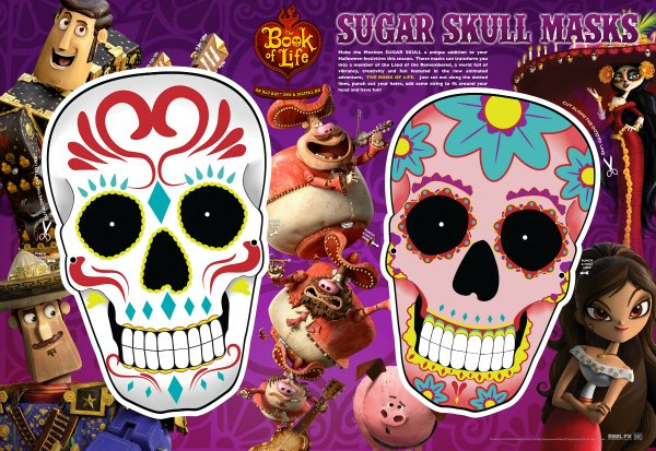 Free Printable Day of The Dead Sugar Skull Masks