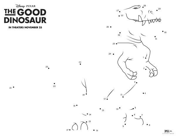 Dinosaur Dot to Dots Printable Activity Pages | Woo! Jr. Kids ... | 464x600