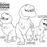 The Good Dinosaur Nash, Butch & Ramsey Coloring Page