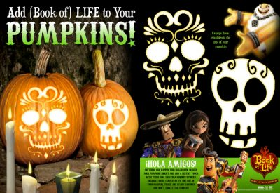 Free Printable Sugar Skull Pumpkin Templates