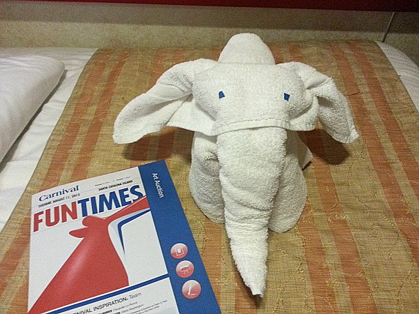 Towel Art on the Carnival Inspiration
