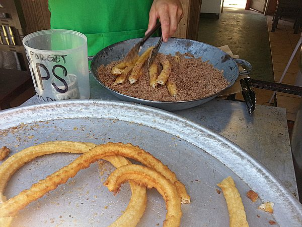 Fresh Churros at La Bufadora - Ensenada, Baja California, Mexico