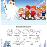 Frosty The Snowman Printable Christmas Parade Checklist