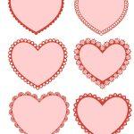 Free Printable Valentine Hearts