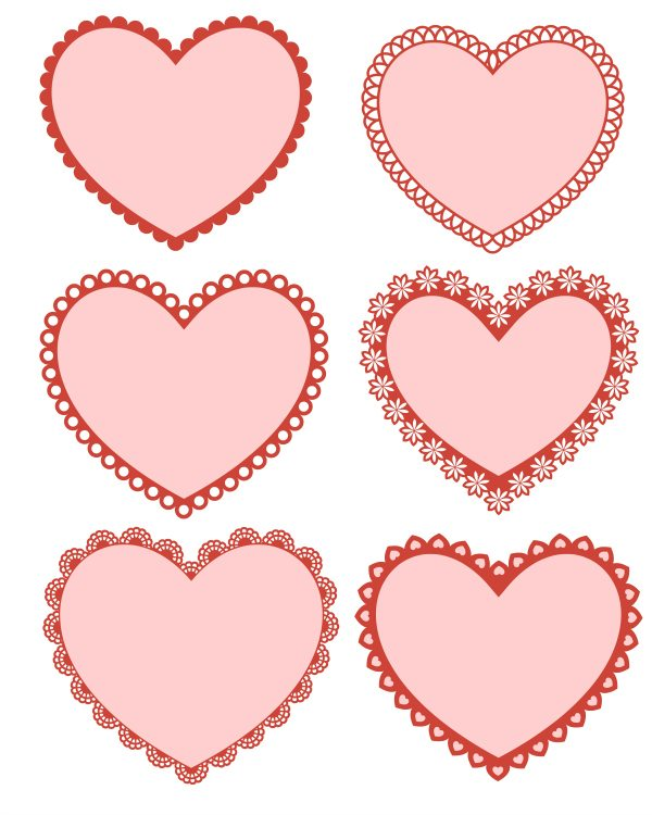 Free Printable Valentine Hearts | Mama Likes This