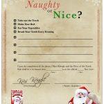 Free Printable Christmas Naughty or Nice Contract