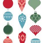 Free Printable Christmas Ornament Gift Tags