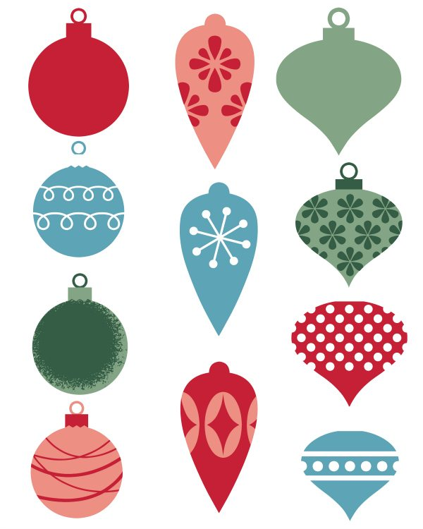 Free Printable Christmas Ornament Gift Tags