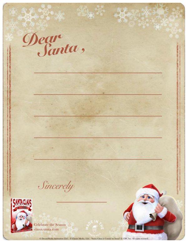 Printable Letter to Santa Stationary Set