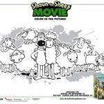 Free Shaun the Sheep Printable Coloring Page