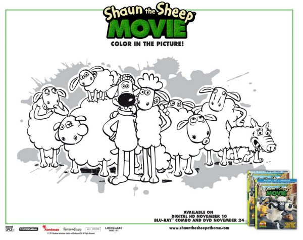 Free Shaun the Sheep Printable Coloring Page | Mama Likes This