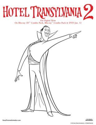 Free Hotel Transylvania Printable Dracula Coloring Page