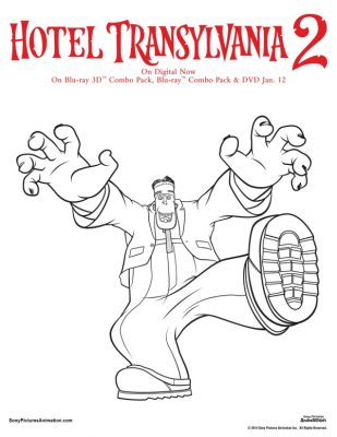 Free Hotel Transylvania Printable Frank Coloring Page