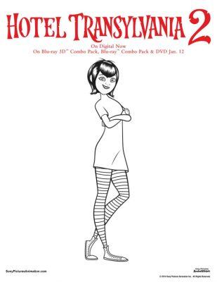 Free Hotel Transylvania Printable Mavis Coloring Page