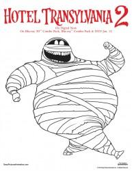 Free Hotel Transylvania Printable Murray Coloring Page