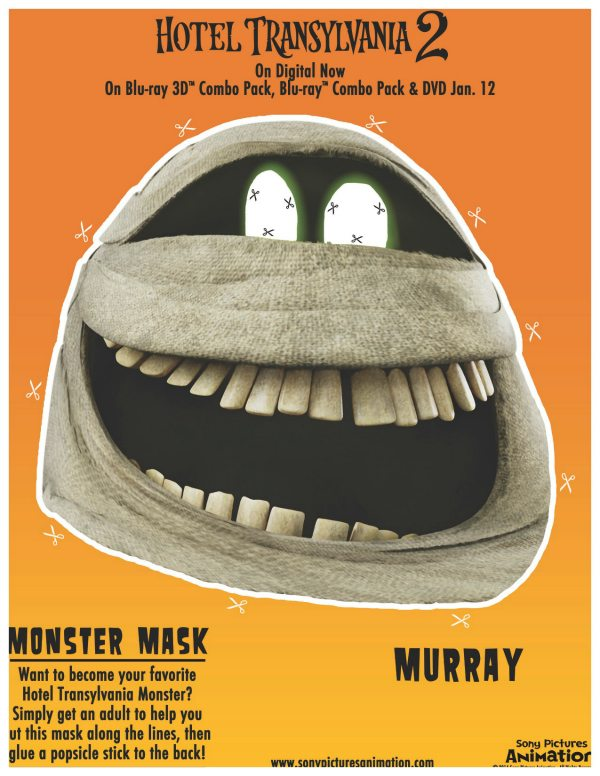 Hotel Transylvania Murray Mask Craft