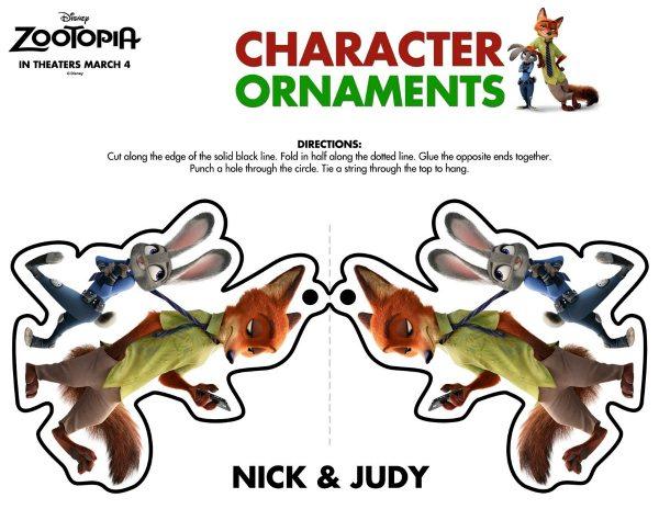 Free Disney Zootopia Nick & Judy Holiday Ornament