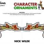 Disney Zootopia Nick Wilde Holiday Ornament Craft