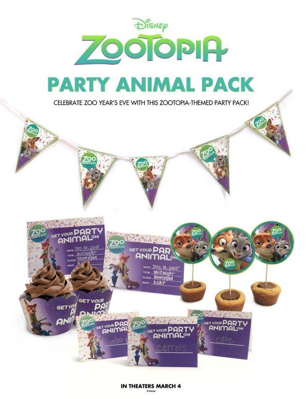 Free Disney Zootopia Party Printables