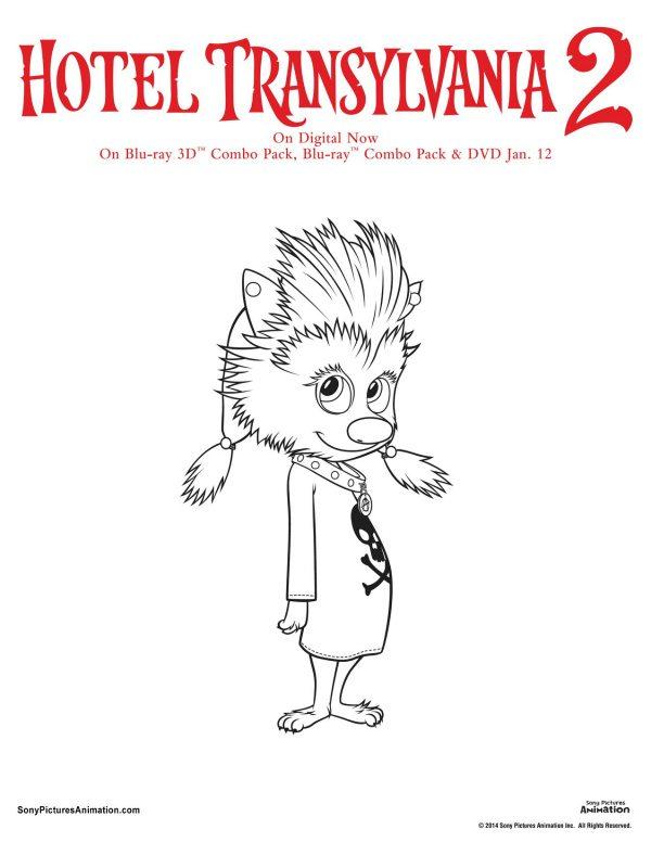 Free Hotel Transylvania Printable Winnie Coloring Page