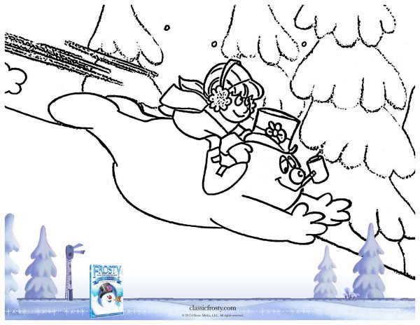 Free Printable Frosty the Snowman Coloring Page
