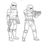 Star Wars: The Force Awakens Stormtroopers Coloring Page