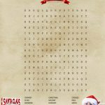 Santa Claus is Coming to Town Word Search Puzzle