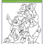Snow White and The Seven Dwarfs Coloring Page