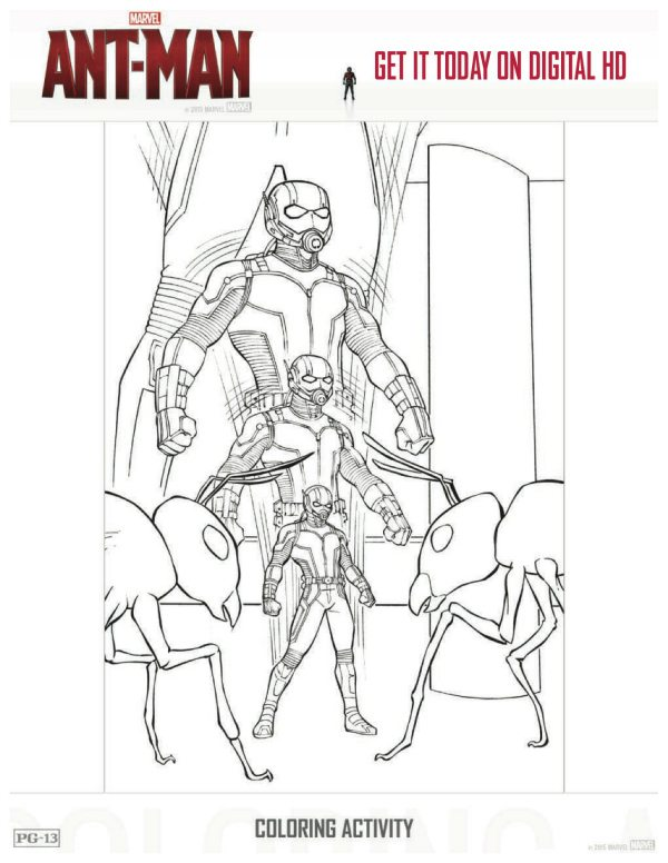 Download Avengers Coloring Pages Here Blackwidow: Marvel Ant-Man Free Printable Coloring Sheet