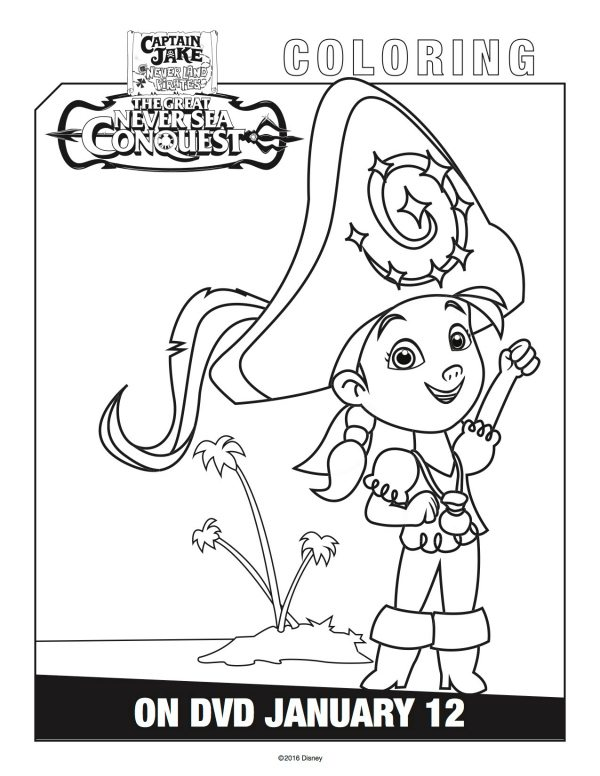 Disney captain jake and the neverland pirates izzy for Jake and the neverland pirates coloring pages