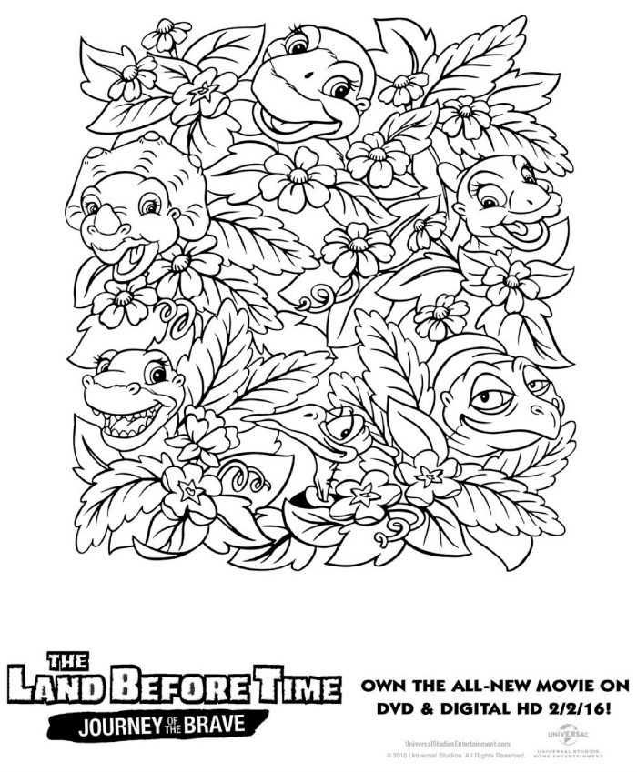Free printable land before time coloring page mama likes for The land before time coloring pages